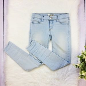 Free People Light Blue Low Rise Skinny Jeans 24